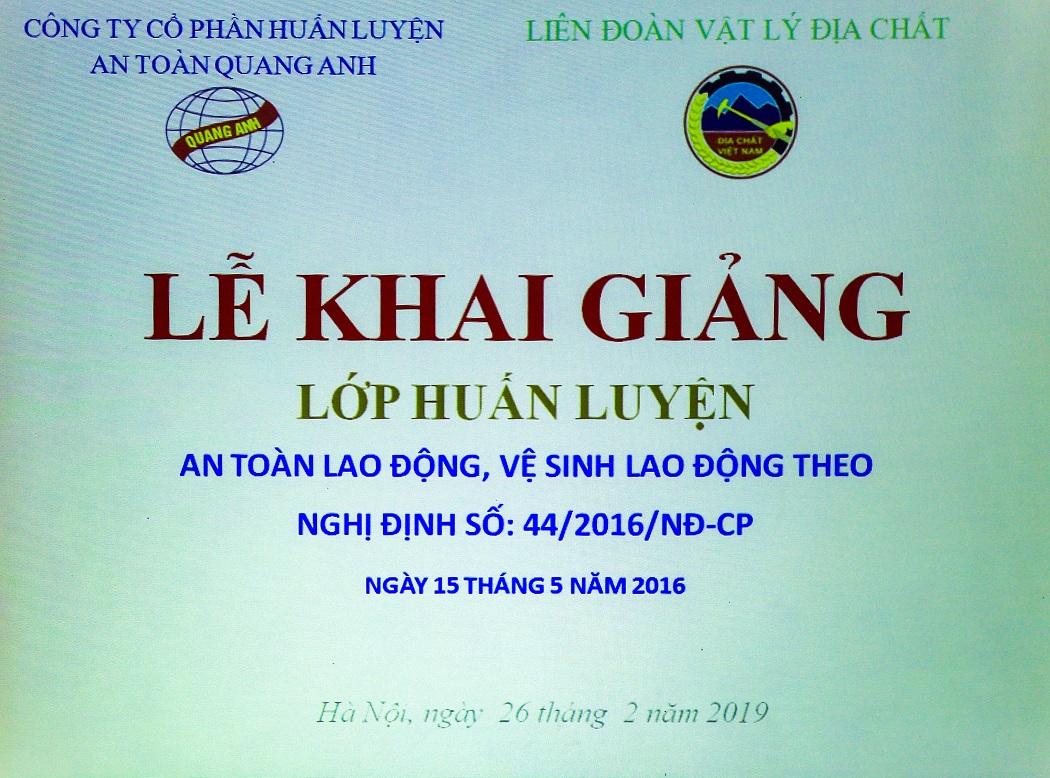 HỘI NGHỊ TẬP HUẤN AN TOÀN LAO ĐỘNG – VỆ SINH LAO ĐỘNG NĂM 2019