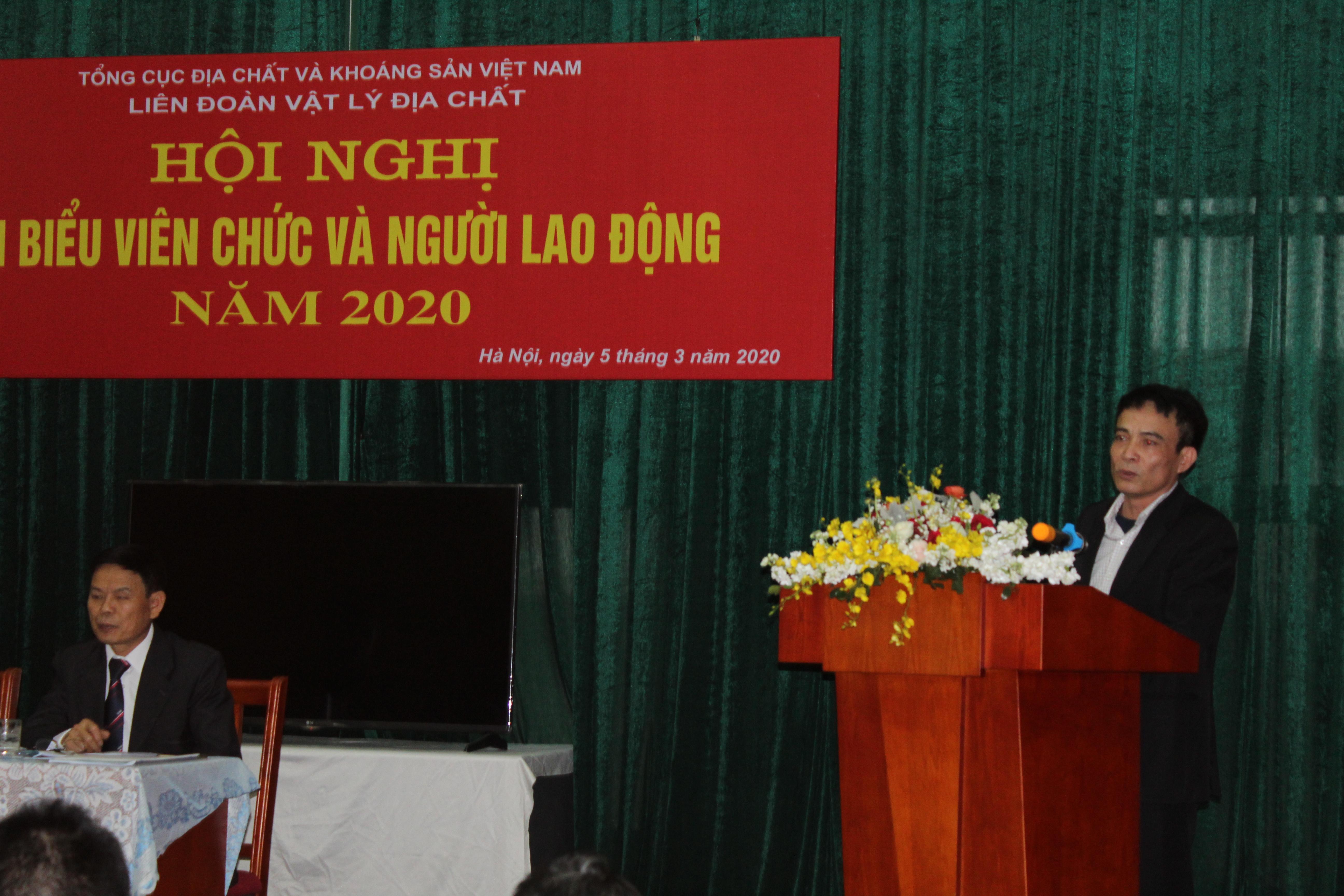 Hội nghị đại biểu viên chức và người lao động Liên đoàn Vật lý Địa chất năm 2020